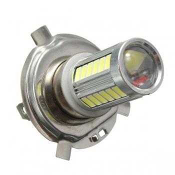 H4 5630 33 LED SMD Super helle Weiß Auto Nebel Licht Scheinwerfer Objektiv Driving Lampen Birne
