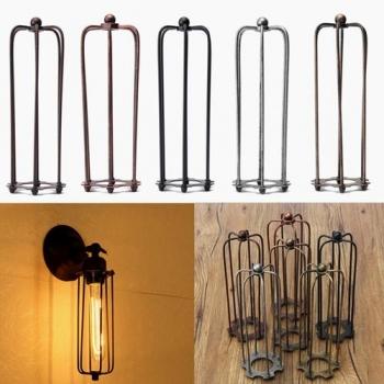 230MM DIY Weinlese Anhänger Ärger Glühlampe Wache Drahtkäfig Decke Lampshade Hanging