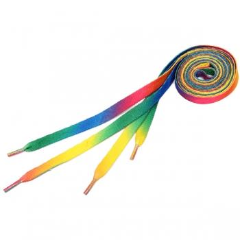 Mens Schnürsenkel Regenbogen Multi Farben Flache Schnürsenkel