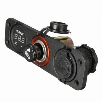 multifunktionale dual usb interface auto kit ladegerät thermometer