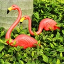 2pcs Garten Dekoration Künstliche Red Flamingos Courtyard Landscape Ornament