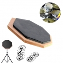 6 Zoll Dumb Pad Gymnastikmatte Blasplatte Drummer Rubber Double Side Soft Black