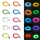 1M 10 farben 3 V Flexible Neon EL Draht Licht Tanz Party Decor Licht Batterie Powered Controller