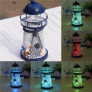 Mittelmeer Eisen Leuchtturm Craft Ornaments Ozean Home Decor LED Candle Light Caldleholder