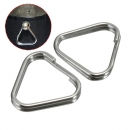 2Pcs Ersatz Metall Chrom Finish Split Ring Kamera Bügel Dreieck Ringe Haken