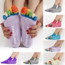 Bunte Fünf Finger Toe Yoga Nicht Anti Skid Rutschsocken Pilates Gym Übung Fitness Massage Multicolor