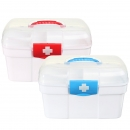 2 Schichten Plastikmedizin Storage Box Chest Drug First Aid Kit Halter