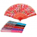 Retro Blumendruck Folding Fans Hand Fan Dance Party Supplies