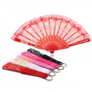 Weinlese Blumendruck Spitze Folding Fans Hand Fan Dance Party Supplies