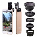 5-In-1 Set Fisheye Weitwinkel Marco Teleobjektiv CPL Objektiv Für iPhone 7 6 / 6S Plus