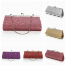 Lady Powder Kleine lange Abend Clutch Bag Wallets Cosmetic Tote Schultertasche