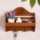 Antique Style Key Wood Hook Hanger Sundries Wall Storage Rack Home Decor