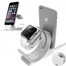 Archee 2 in 1 Aluminum Alloy Charging Stand Holder for Apple iWatch iPhone