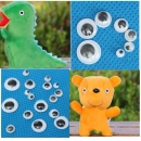 700 stücke Mixed Wiggly Googly Augen selbstklebende DIY Scrapbooking Puppe Stofftier AAccessorie.s