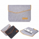 11 Inch Wool Leather laptop Sleeve Bag For 11 Inch Macbook Air & 2017 10.5 Inch iPad Pro