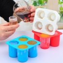 4 Cup Form Silikon Shooter Eis Cube Glas Mold Maker Sommer Cool Accessorier Ive Mould