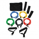 11 PC Fitness Latex Widerstand Bänder Elastikband Exercise Set
