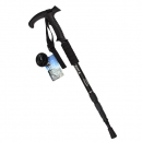 IPRee ™ Outdoor Verstellbarer Trekkingstock 4 Sektionen Walking Stick Crutch Camping Klettern Alpenstock Cane