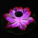 Solar-Multi-Color LED Lotus Flower Lamp Schwimmteich Night
