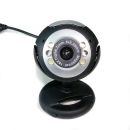 USB 12.0M 6 LED WEBCAM CAMERA Webcams MIC FÜR PC LAPTOP