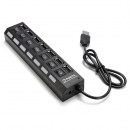7 Ports USB 2.0 LED Hub High Speed ??Sharing Switch