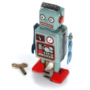 Clockwork Windup Metall Walking Tin Toy Robot Retro scherzt Geschenk