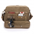 Herren Multifunktions-Leinwand Ein-Schulter Business Casual Bag