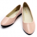 Frauen flache Pumps Damen Ballerina Beleg auf Dolly Ballettschuhe Slipper