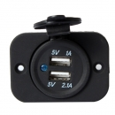 USB Buchse Plattenmontage Doppel Hafen Auto Accessory Power Outlet 5V 2.1A