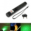 G303 regulierbarer Fokus 532nm 5mw grüner Laser pointer+light Sternkappe