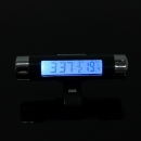 Auto Digital LCD Display Temperatur Thermometer Monitor Time Clock