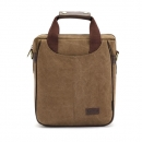 KAUKKO Männer Canvas Messenger Umhängetasche Shoulder Bag Travel Schule Berg Handbag